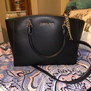 Black leather Michael Kors purse